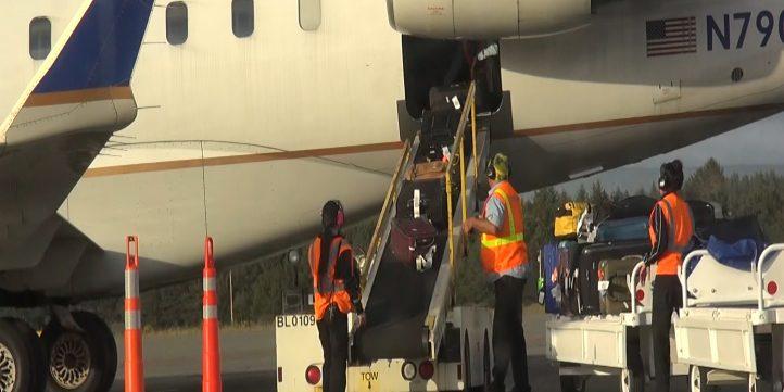 Airport-Unloading Baggage