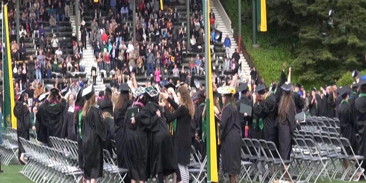 crowd, graduation, students