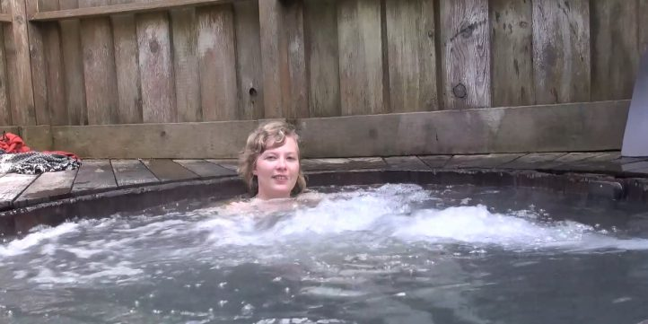 Woman In Hot Tub 00