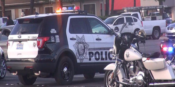 Police Car At Car Crash