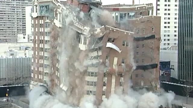 Mapes Hotel building implosion