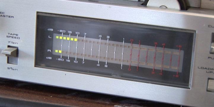 vu meter for reel to reel tape recorder