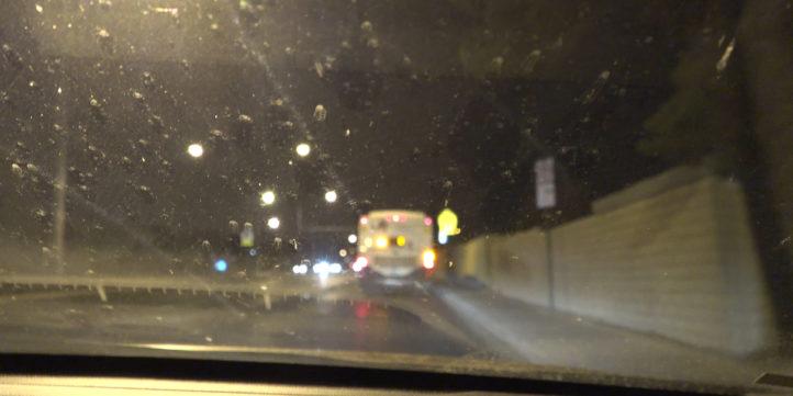 City Bus Driving At Night